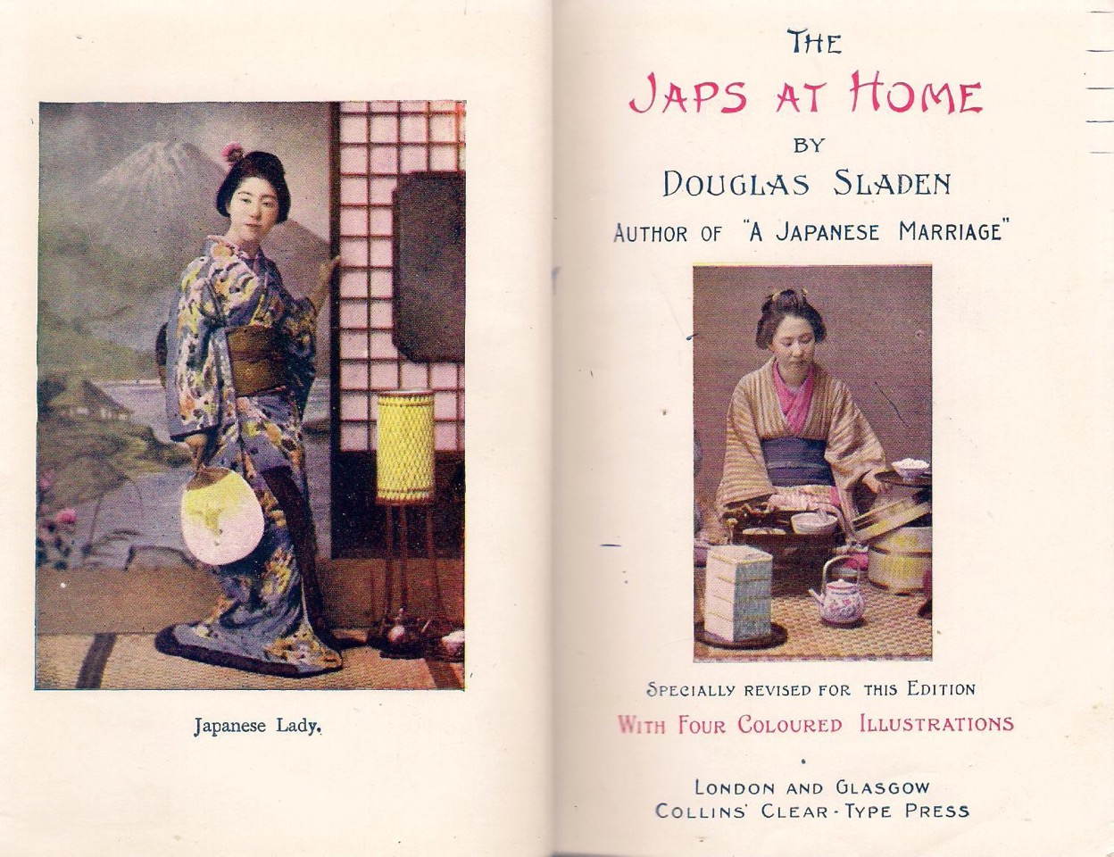 Douglas Sladen-The Japs at Home- frontispiece for revised edition (1910)